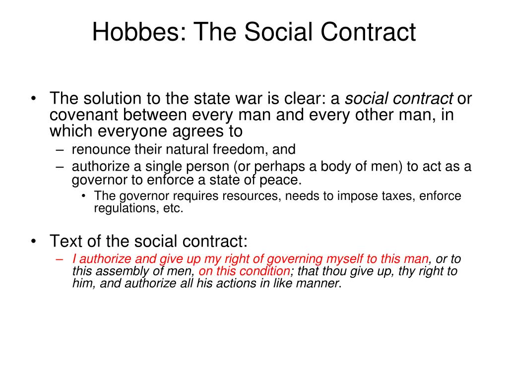 Hobbes: The Social Contract