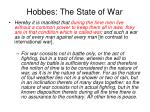 hobbes the state of war