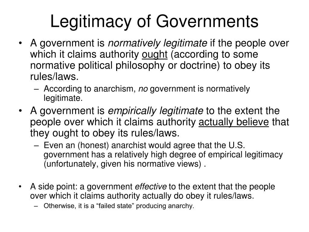 Legitimacy of Governments