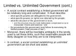 limited vs unlimited government cont
