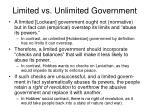 limited vs unlimited government