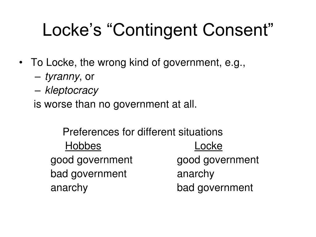 """Locke's """"Contingent Consent"""""""