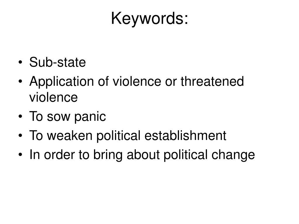 Keywords:
