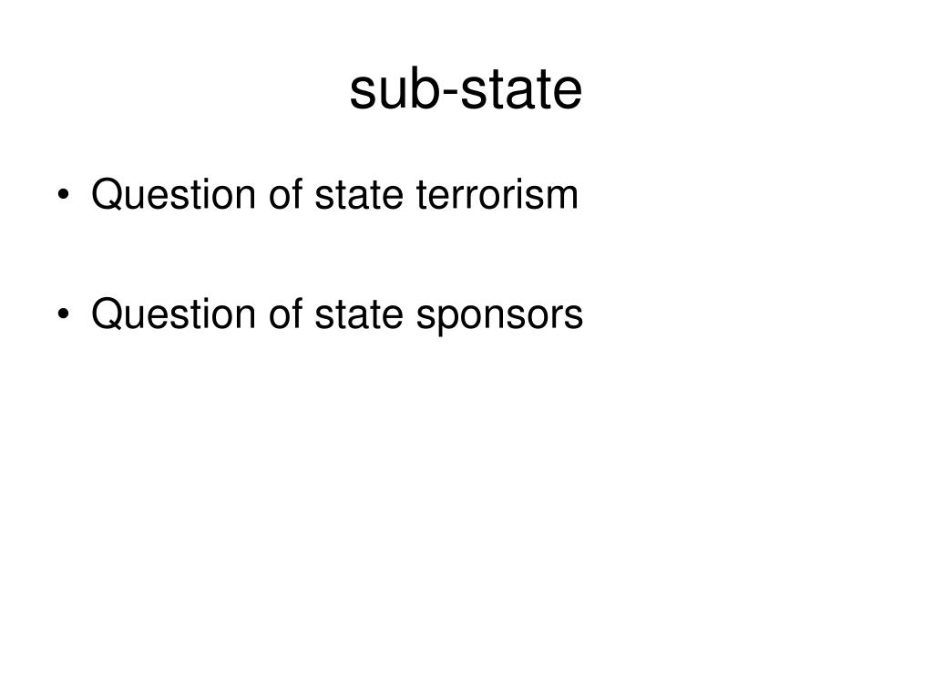 sub-state