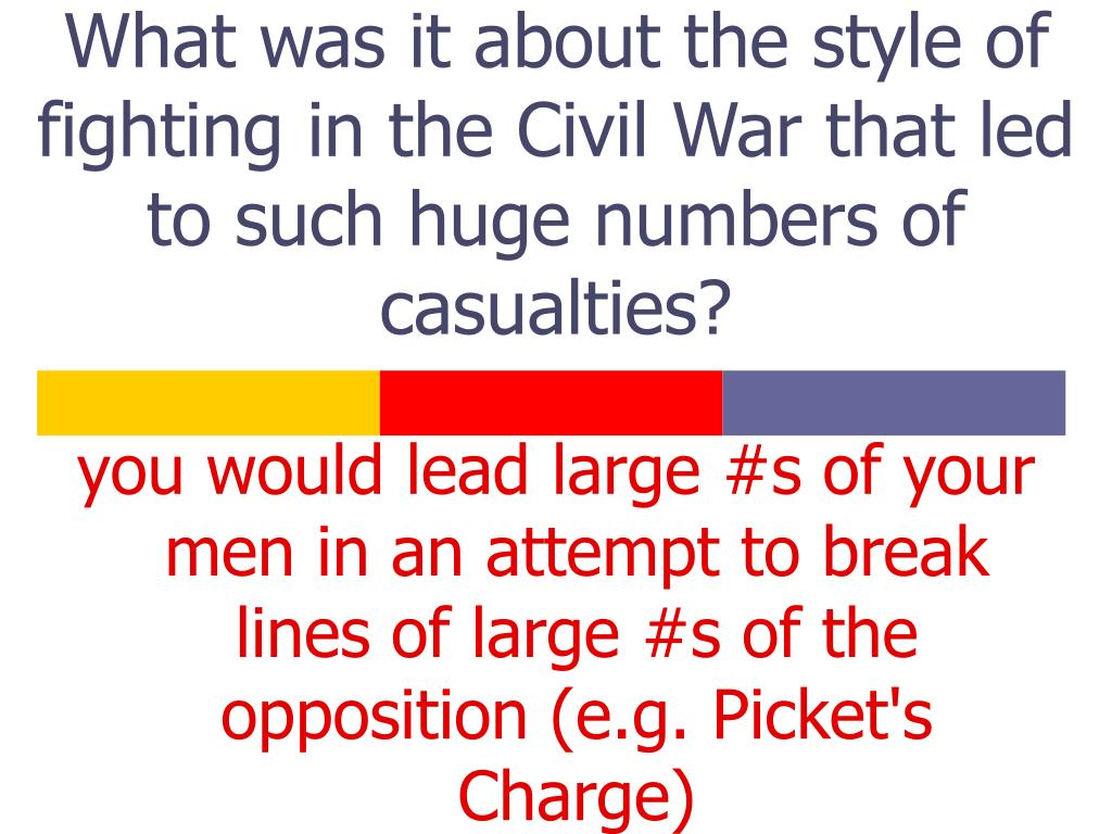 What was it about the style of fighting in the Civil War that led to such huge numbers of casualties?