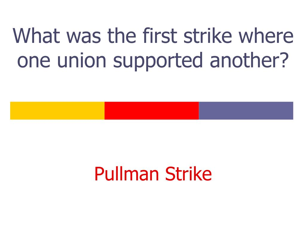 What was the first strike where one union supported another?