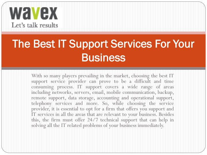 The best it support services for your business