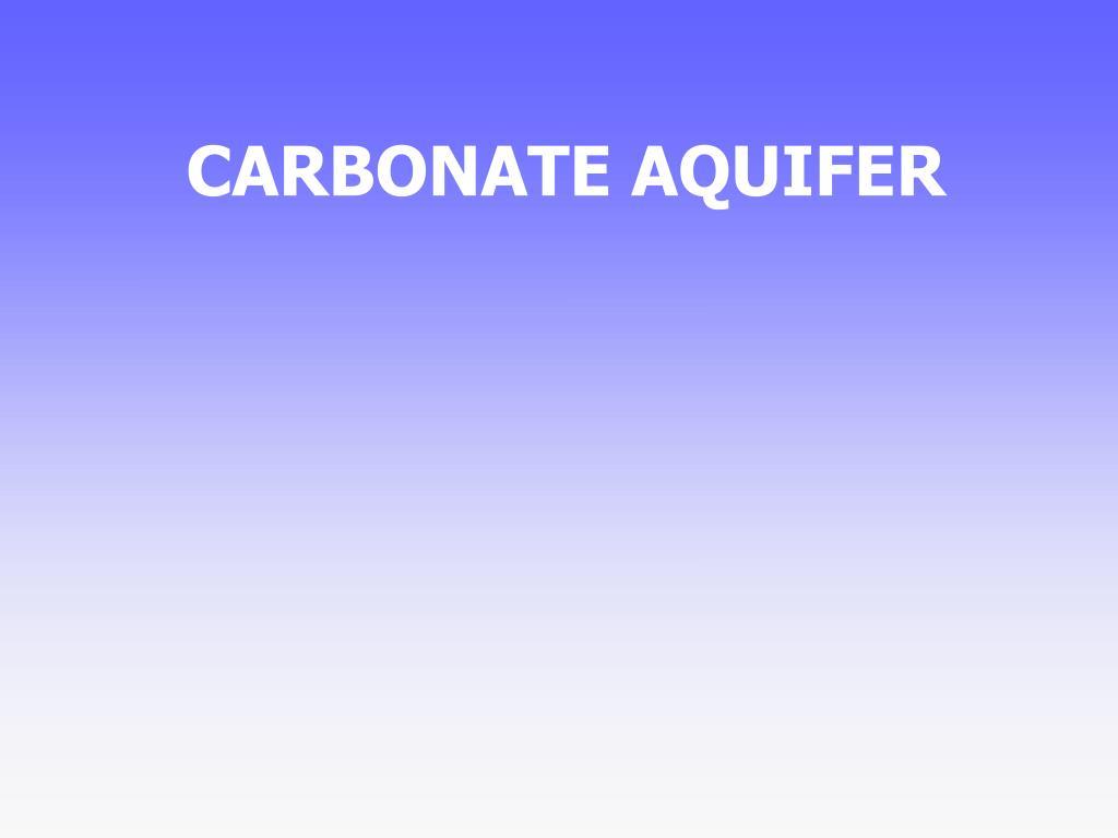 CARBONATE AQUIFER
