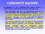 carbonate aquifer34