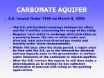 carbonate aquifer39