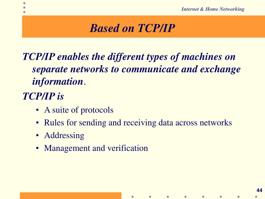 Based on TCP/IP