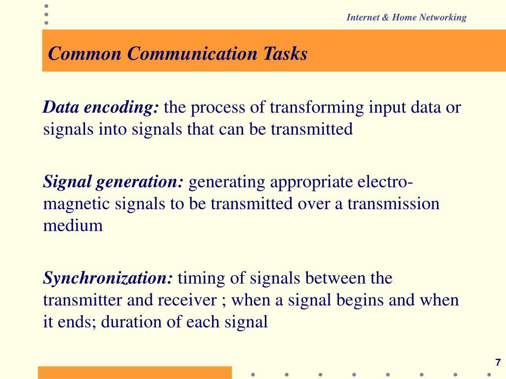 Common Communication Tasks