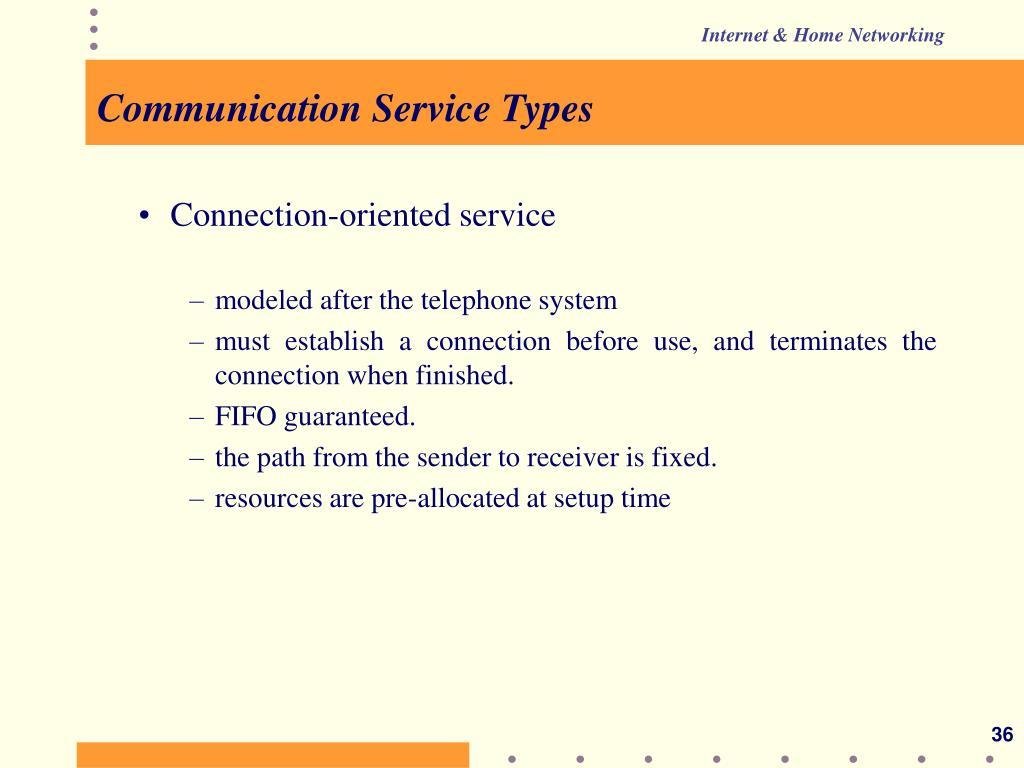 Communication Service Types