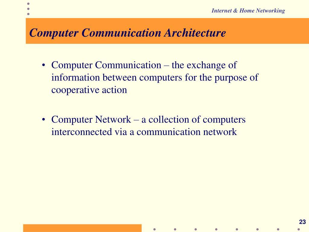Computer Communication Architecture