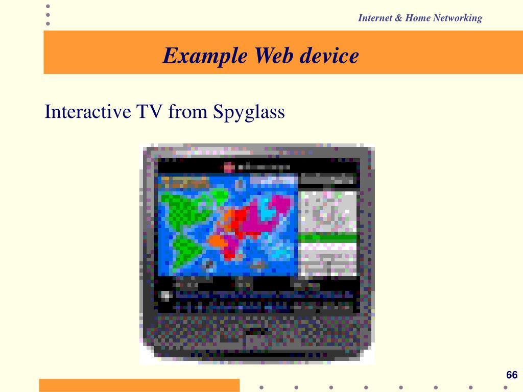 Example Web device