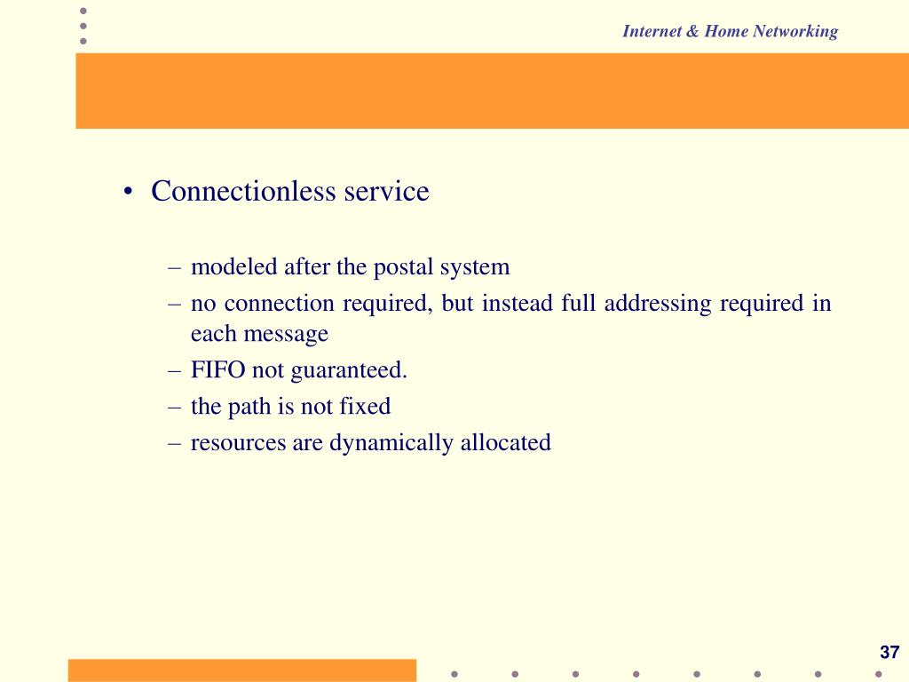 Connectionless service