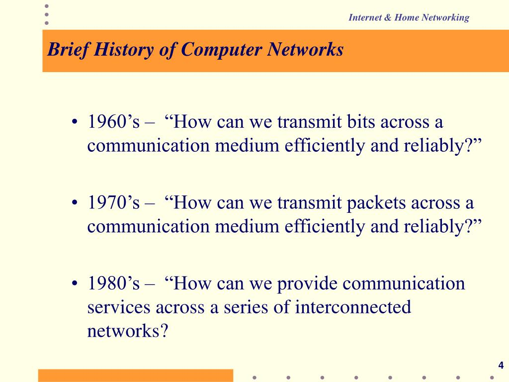Brief History of Computer Networks
