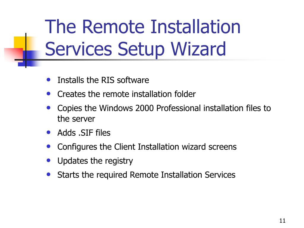 The Remote Installation Services Setup Wizard