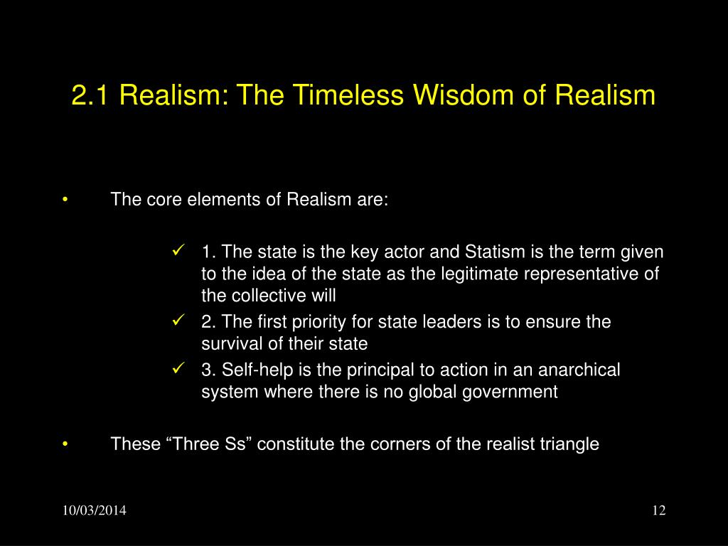 2.1 Realism: The Timeless Wisdom of Realism