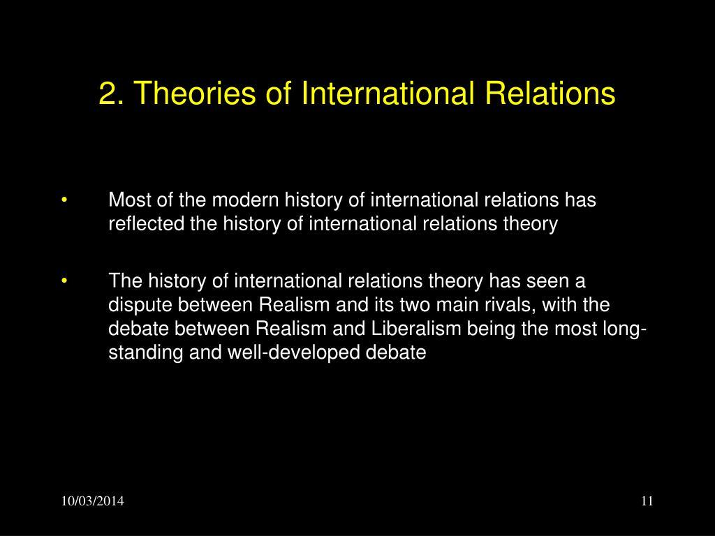 2. Theories of International Relations