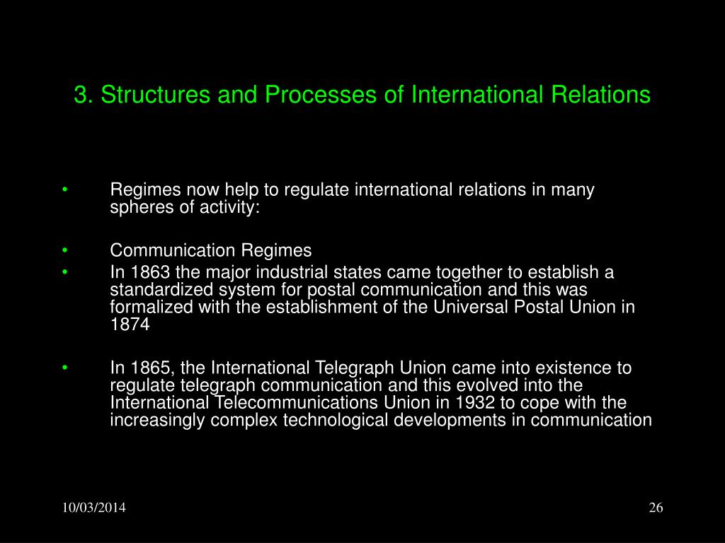 3. Structures and Processes of International Relations