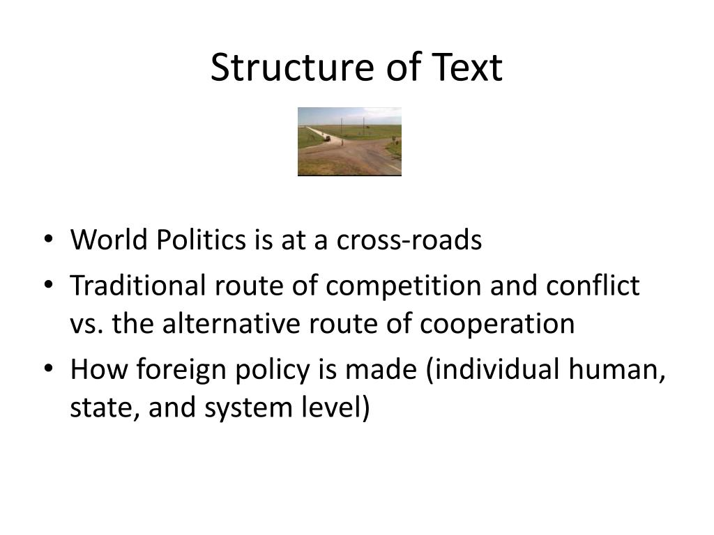 Structure of Text