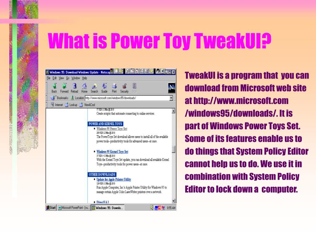 What is Power Toy TweakUI?