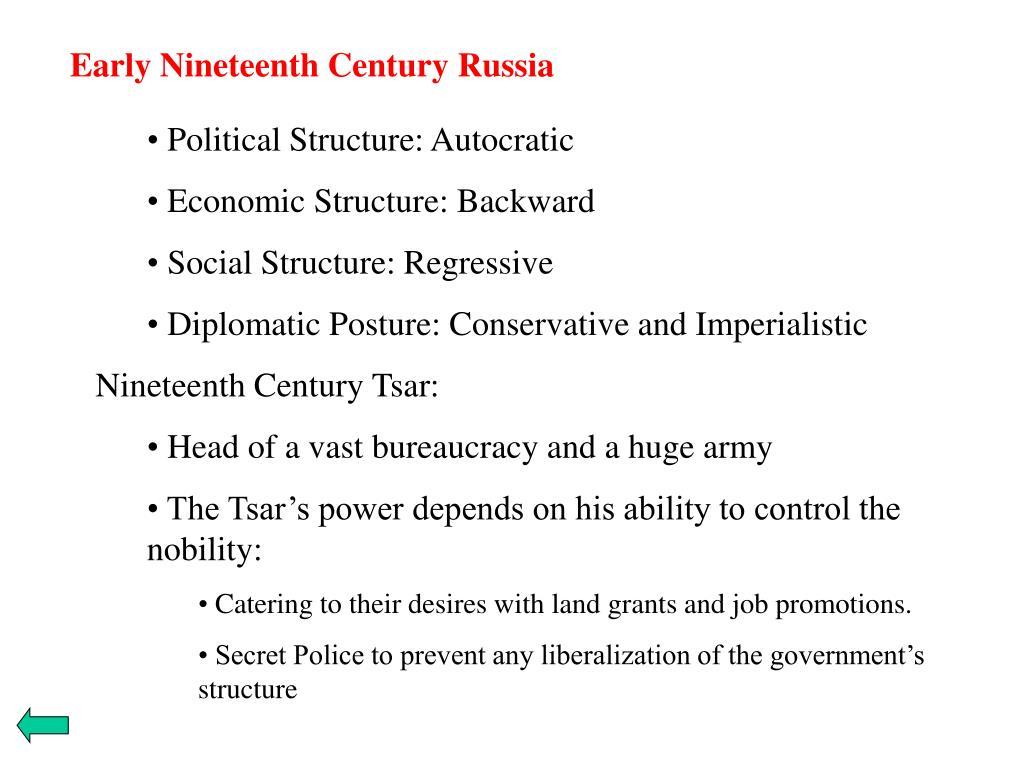 Early Nineteenth Century Russia