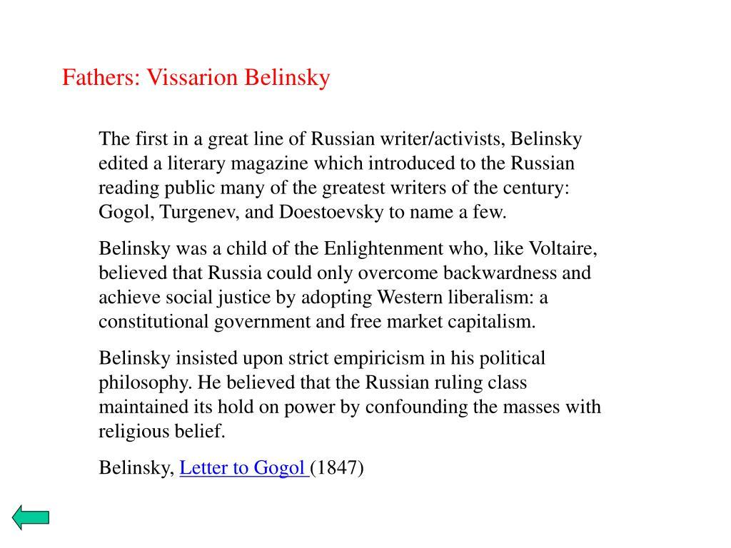 Fathers: Vissarion Belinsky