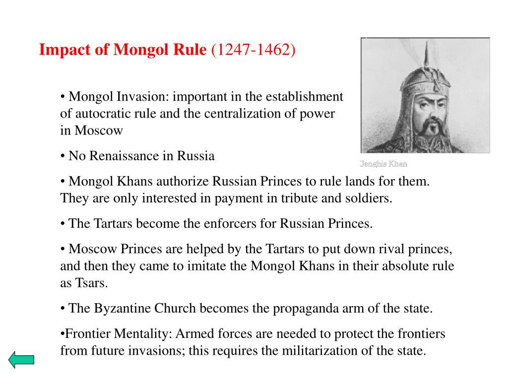 Impact of Mongol Rule
