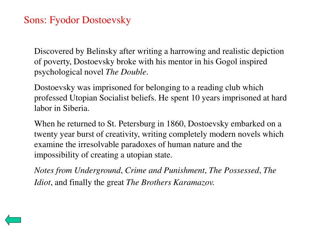 Sons: Fyodor Dostoevsky