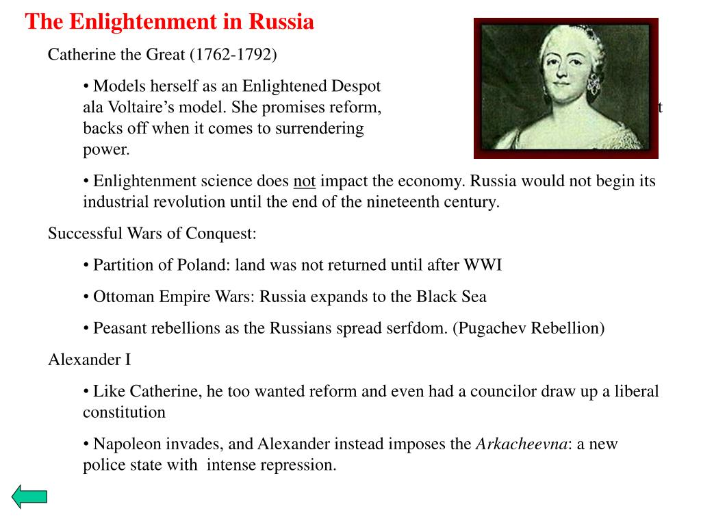 The Enlightenment in Russia