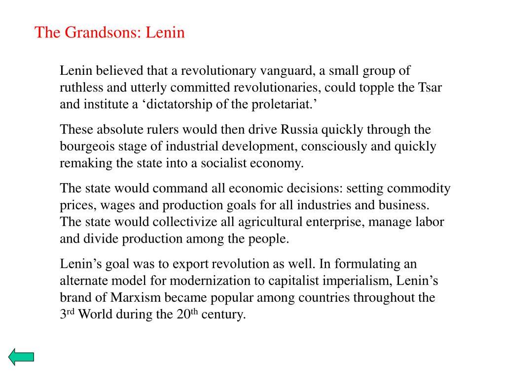 The Grandsons: Lenin