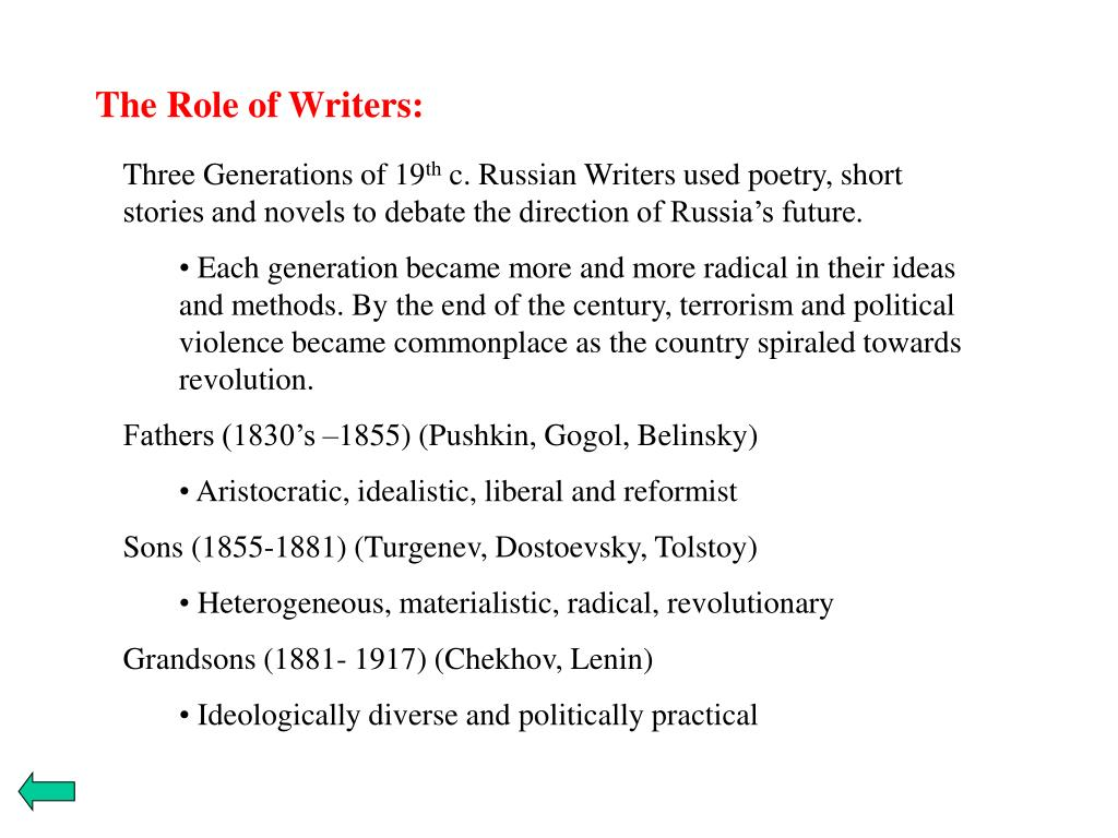 The Role of Writers: