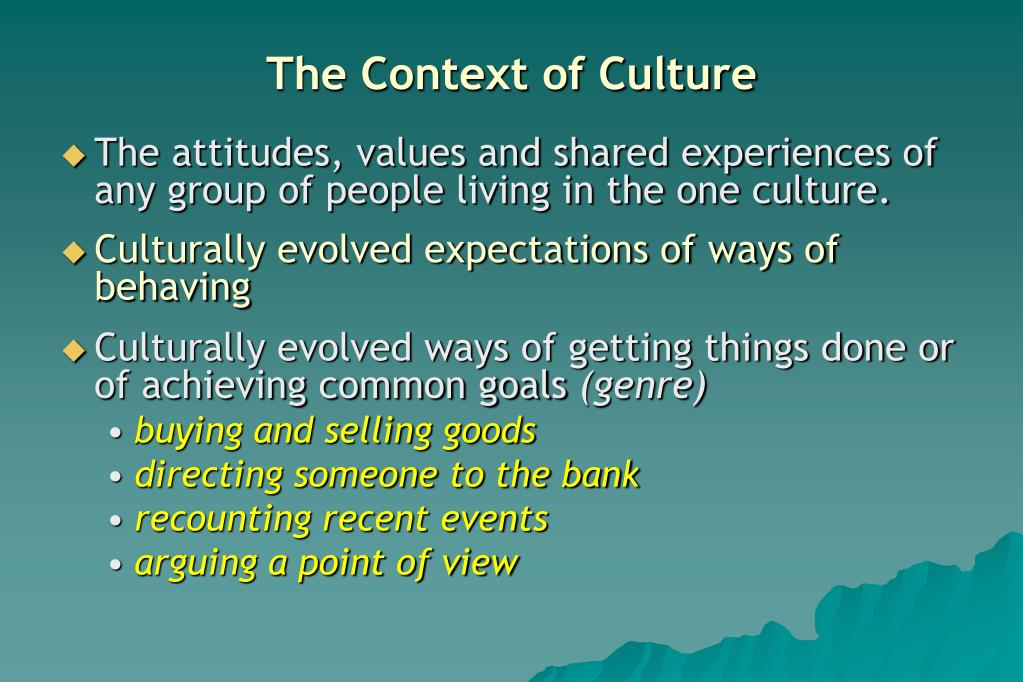 The Context of Culture