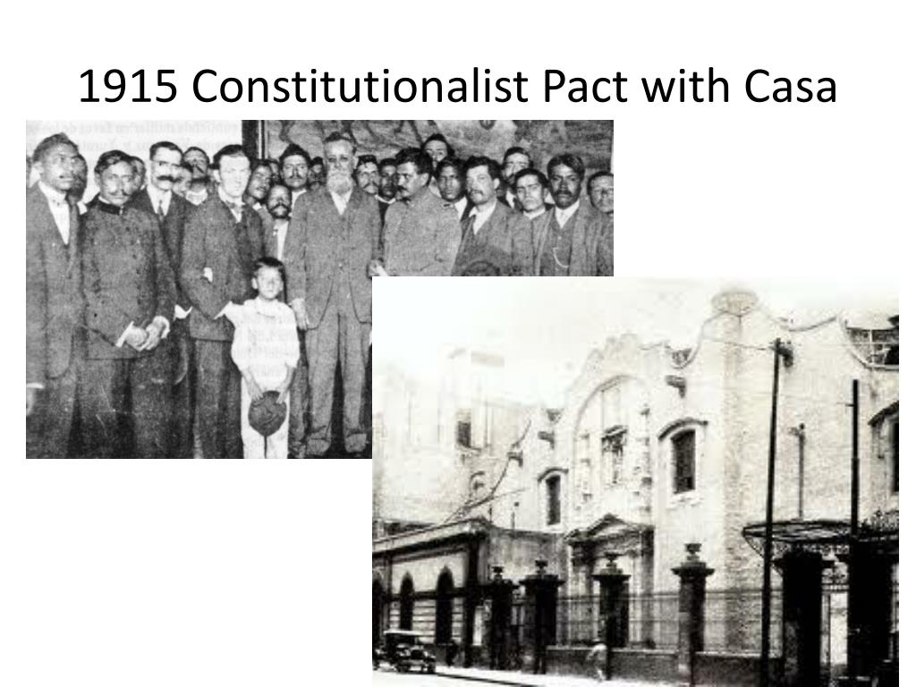 1915 Constitutionalist Pact with Casa