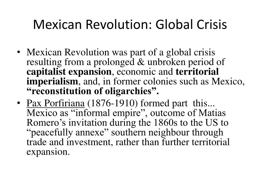 Mexican Revolution: Global Crisis