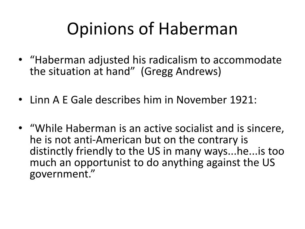 Opinions of Haberman