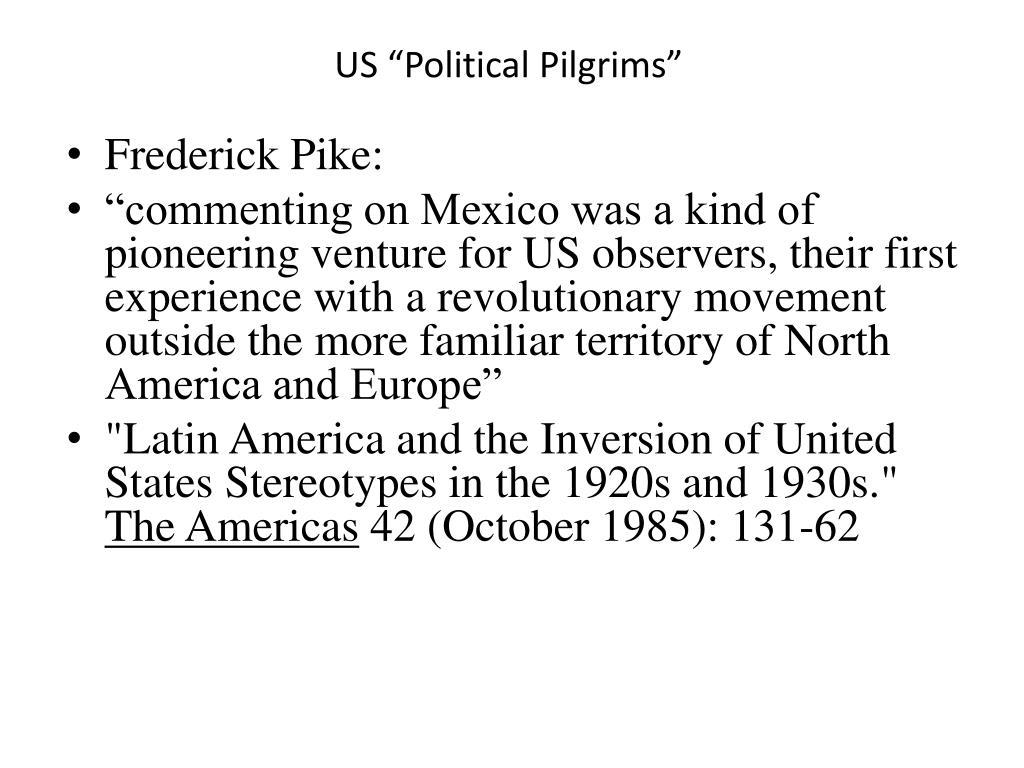 """US """"Political Pilgrims"""""""