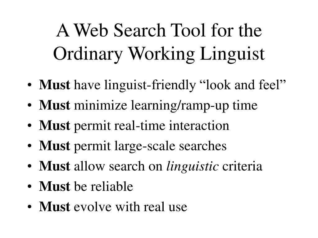 A Web Search Tool for the