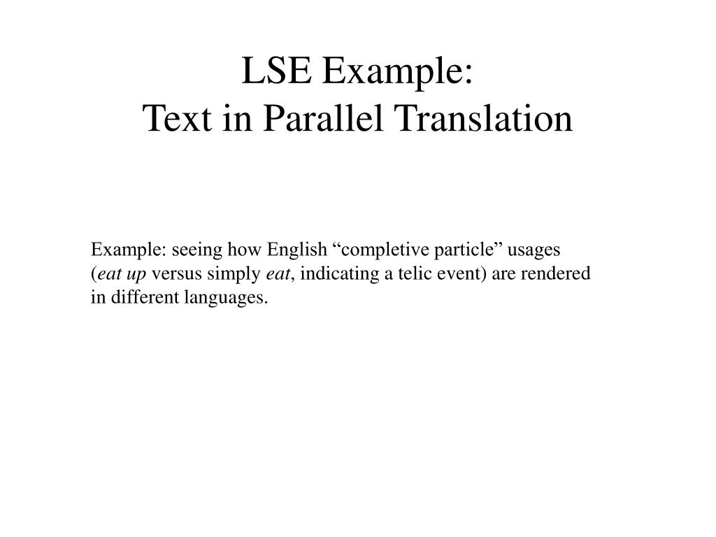LSE Example:
