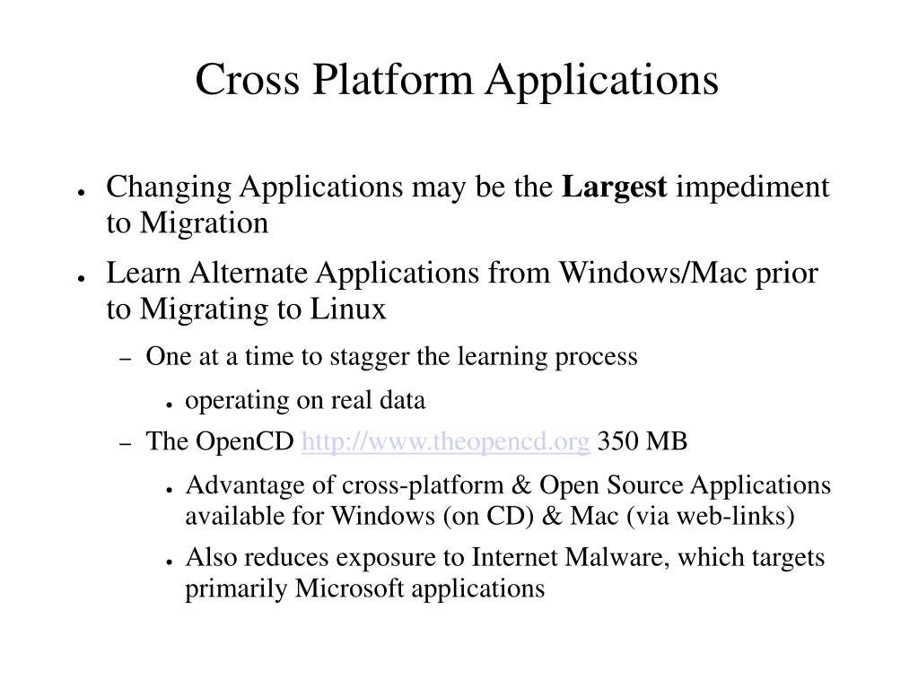 Cross Platform Applications
