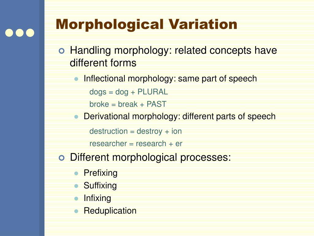 Morphological Variation
