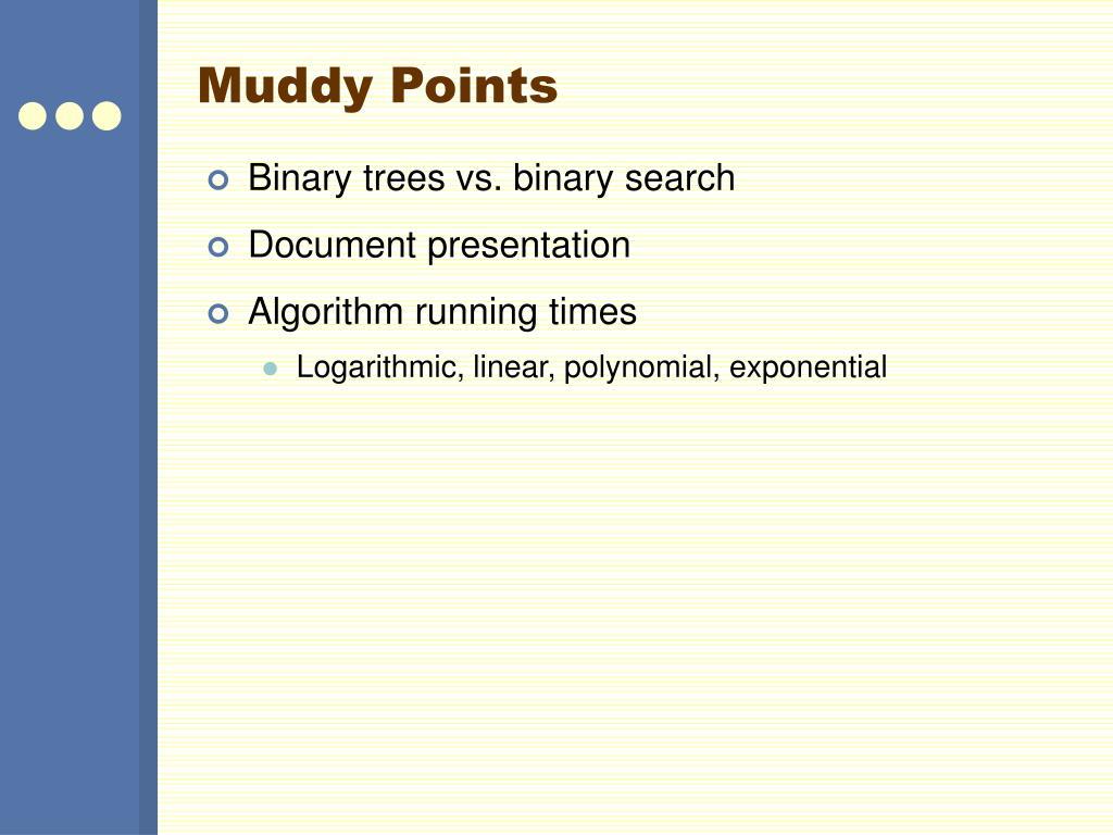 Muddy Points