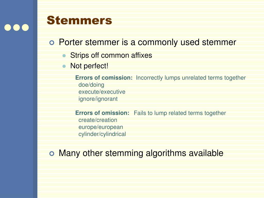 Stemmers