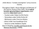 1920s mexico multiple sovereignties versus sonoran dynasty