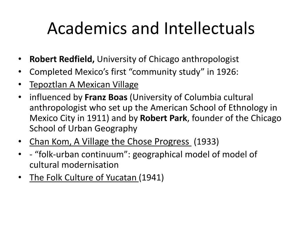 Academics and Intellectuals
