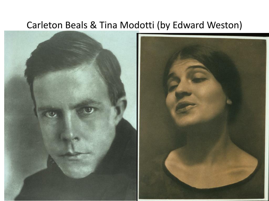 Carleton Beals & Tina Modotti (by Edward Weston)