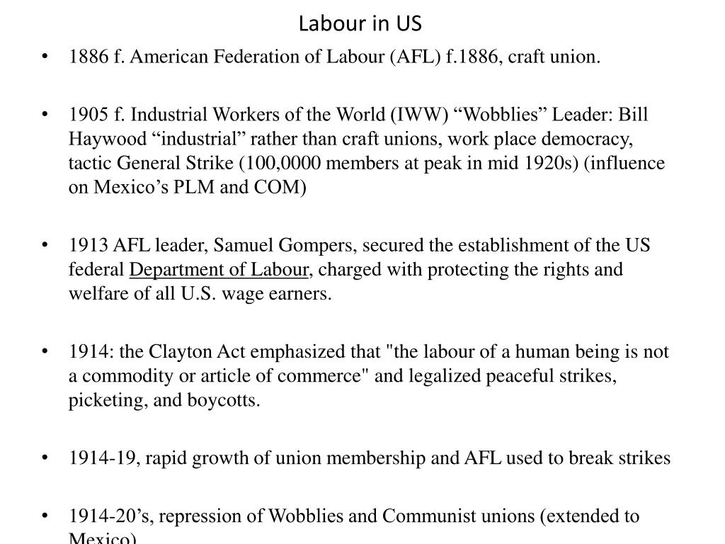 Labour in US