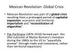 mexican revolution global crisis